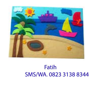 Mainan Kain Flanel Playboard di Pantai