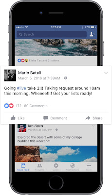 Live facebook video notification increase viewers