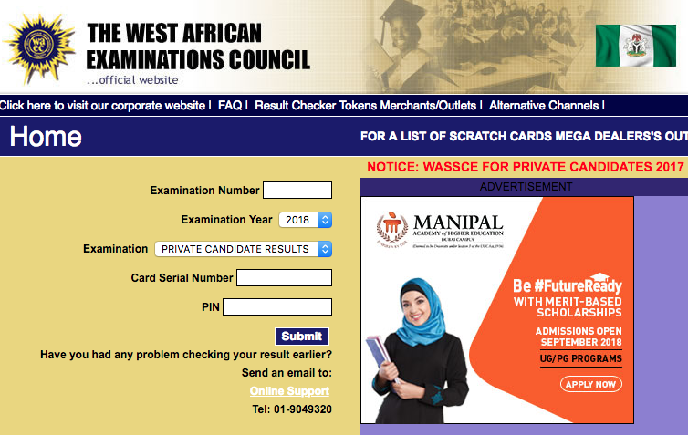 WAEC 2019 Result is Out | Check WAEC Result - www waecdirect org