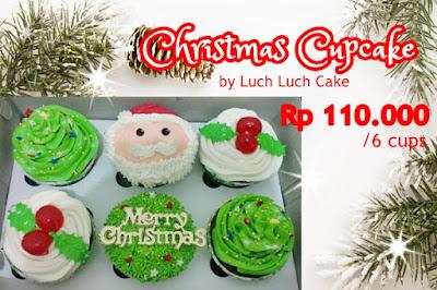 Kue Tart dan Cupcake Hampers Parcel Natal 2017