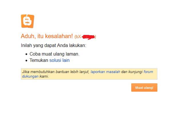 Mengatasi Kesalahan bX saat Custom Domain di Blogspot