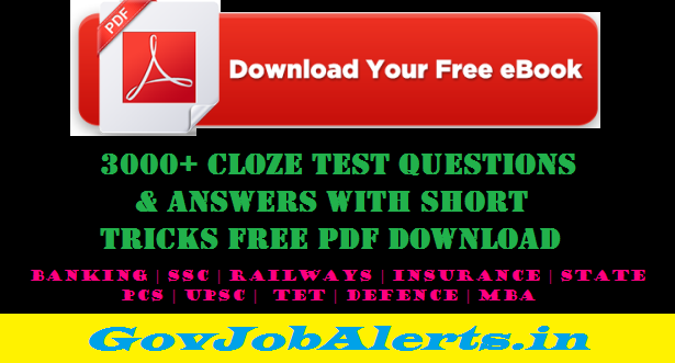 3000+ Cloze Test Questions & Answers Free PDF Download