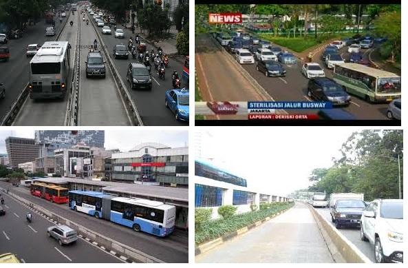 Kendaraan Yang Menerobos Jalur Busway Selain Plat RI, Ambulance Dan Pemadam Kebakaran Akan Ditilang