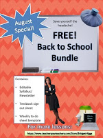 Free Back to School Templates by Bridget Riggs