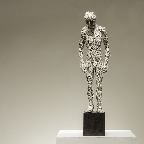 "Anna Gillespie, ""Standing Man"" - plaster, resin, mixed media 