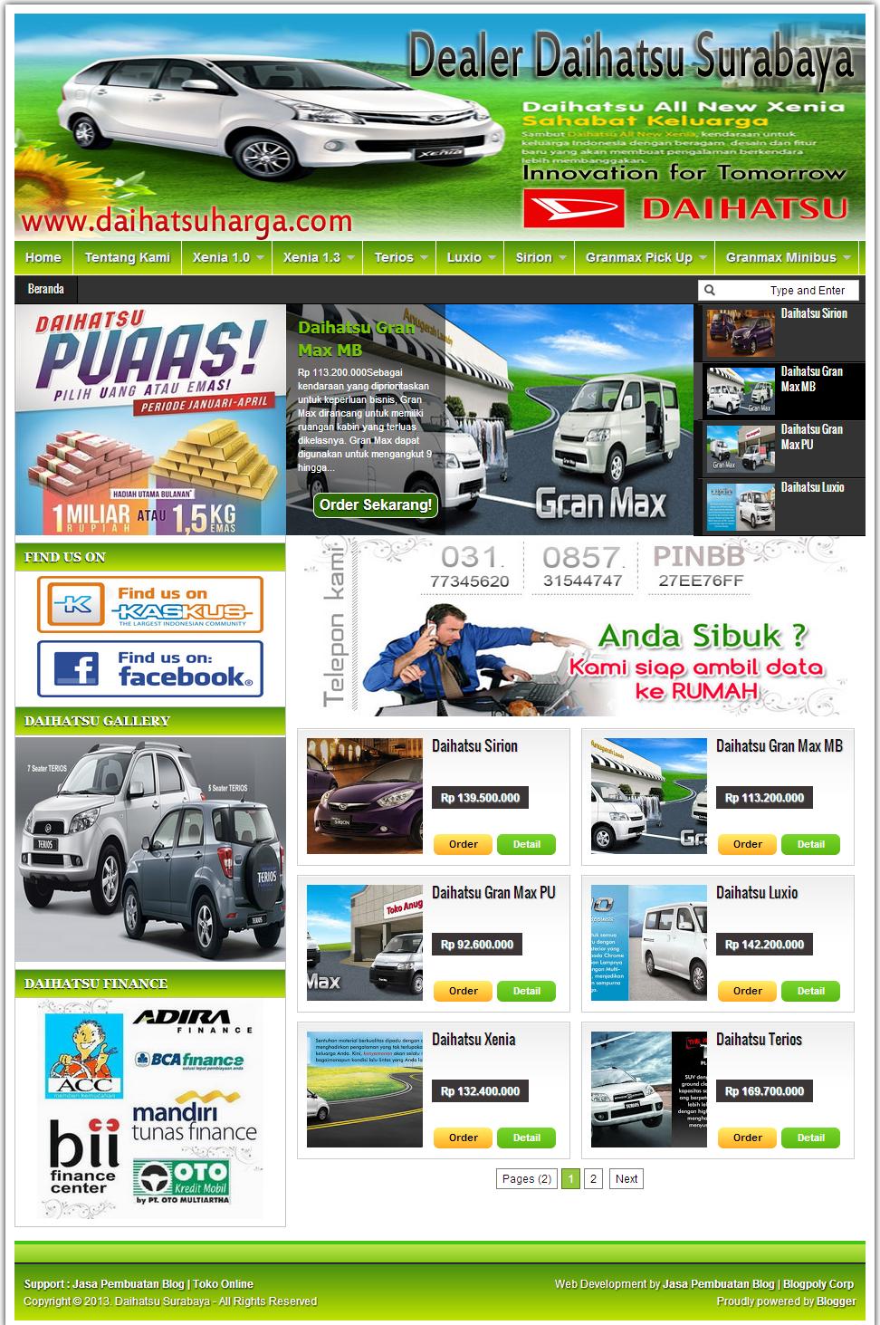 Jasa Buat Blog Sales Mobil