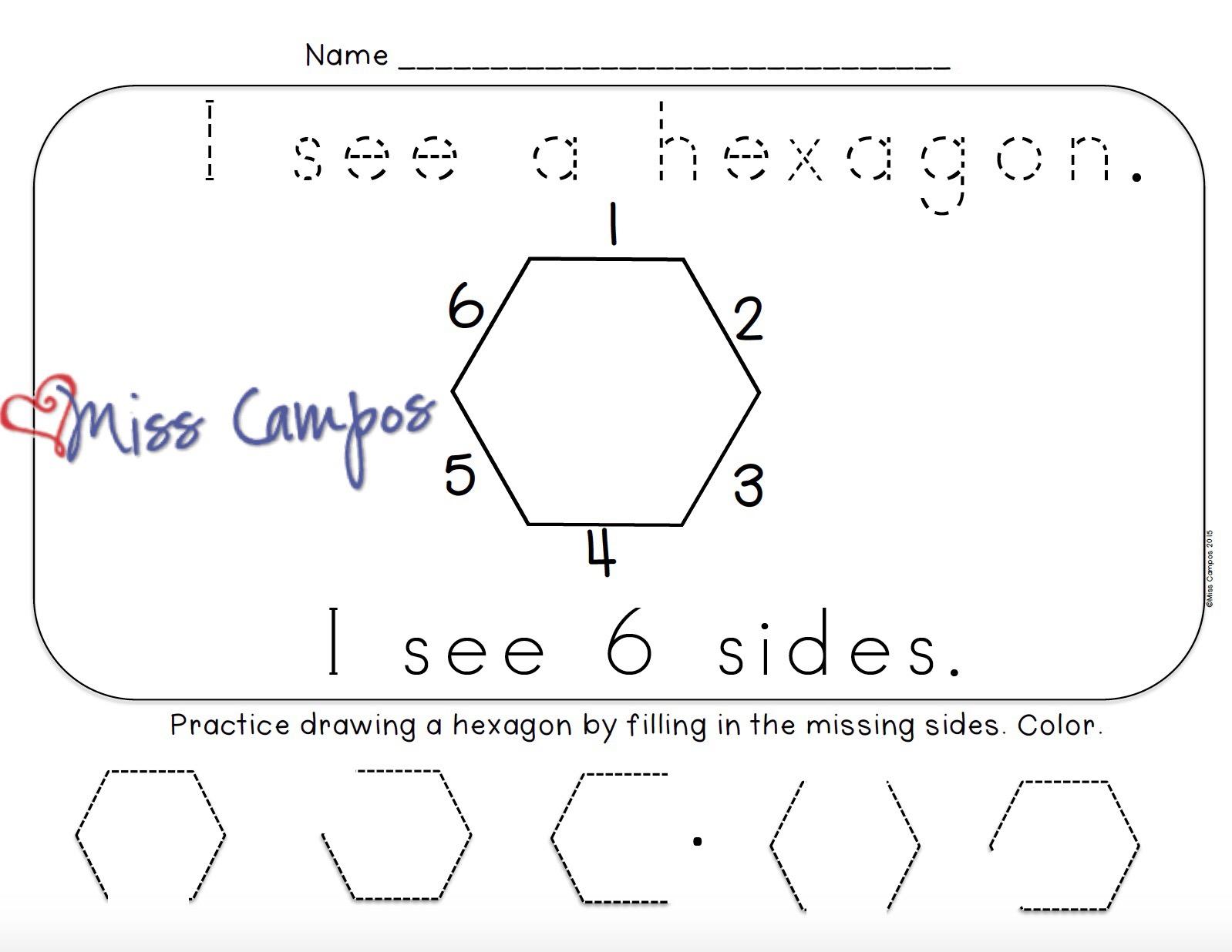 3 Diional Shapes Worksheet Kindergarten 3 Best Free