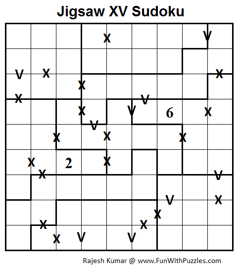 Jigsaw XV Sudoku (Daily Sudoku League #80)