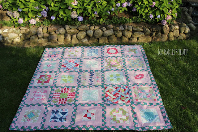 Secial Bee Sampler, Tilda, Quilttop, Quilt, Patchwork, Sewing
