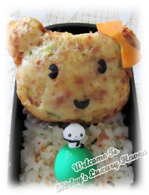 teddy bear potato patty kids lunch box