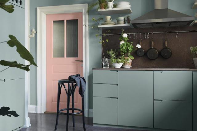 groene keuken kastjes