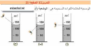 حل التمرين رقم 12و13و14 من الصفحة 21 في الفيزياء سنة 1 متوسط الجيل الثاني