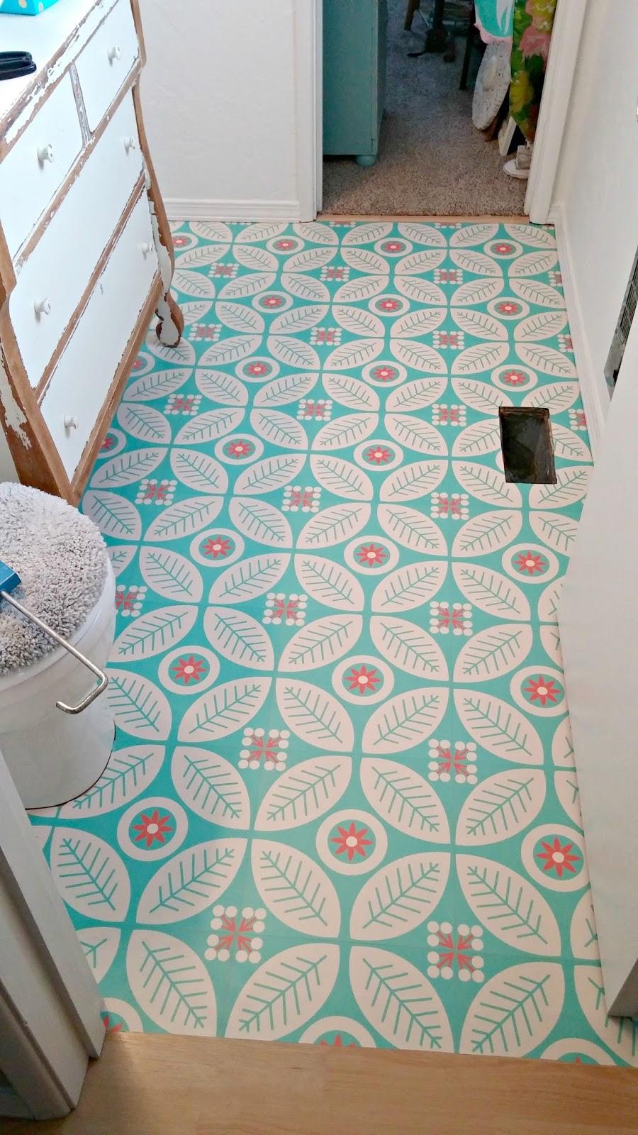 Half Bath Redo - The Happiest Floors on the Block - Little Vintage ...