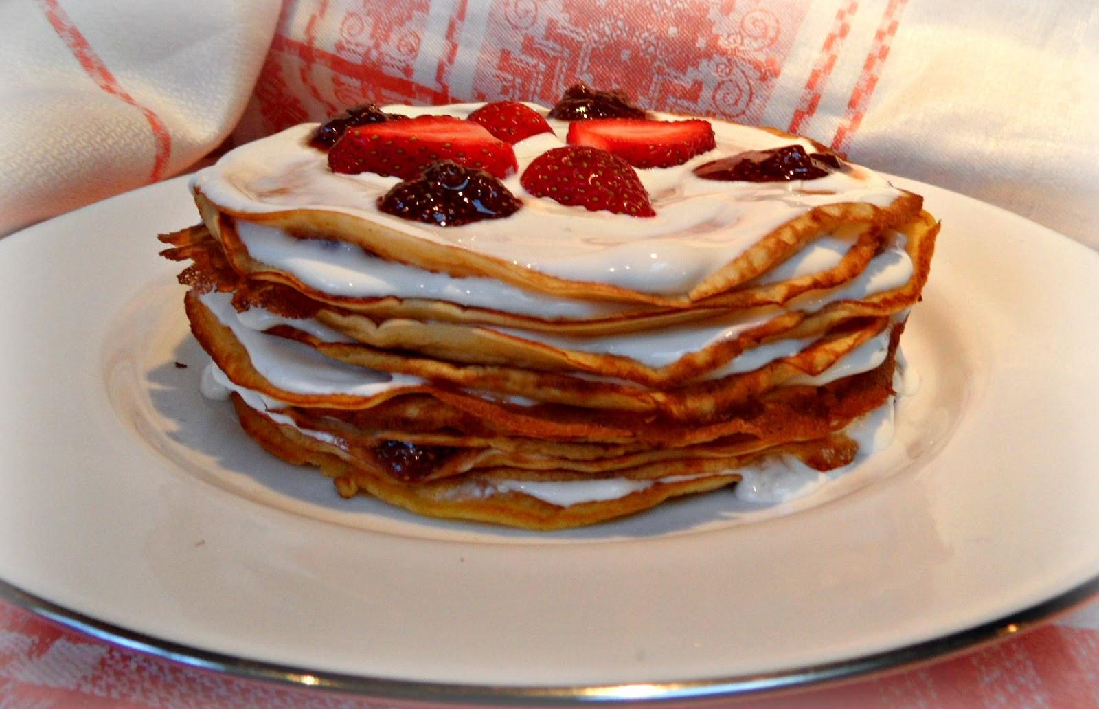 Pan Cake Strawberry And Ice Cream