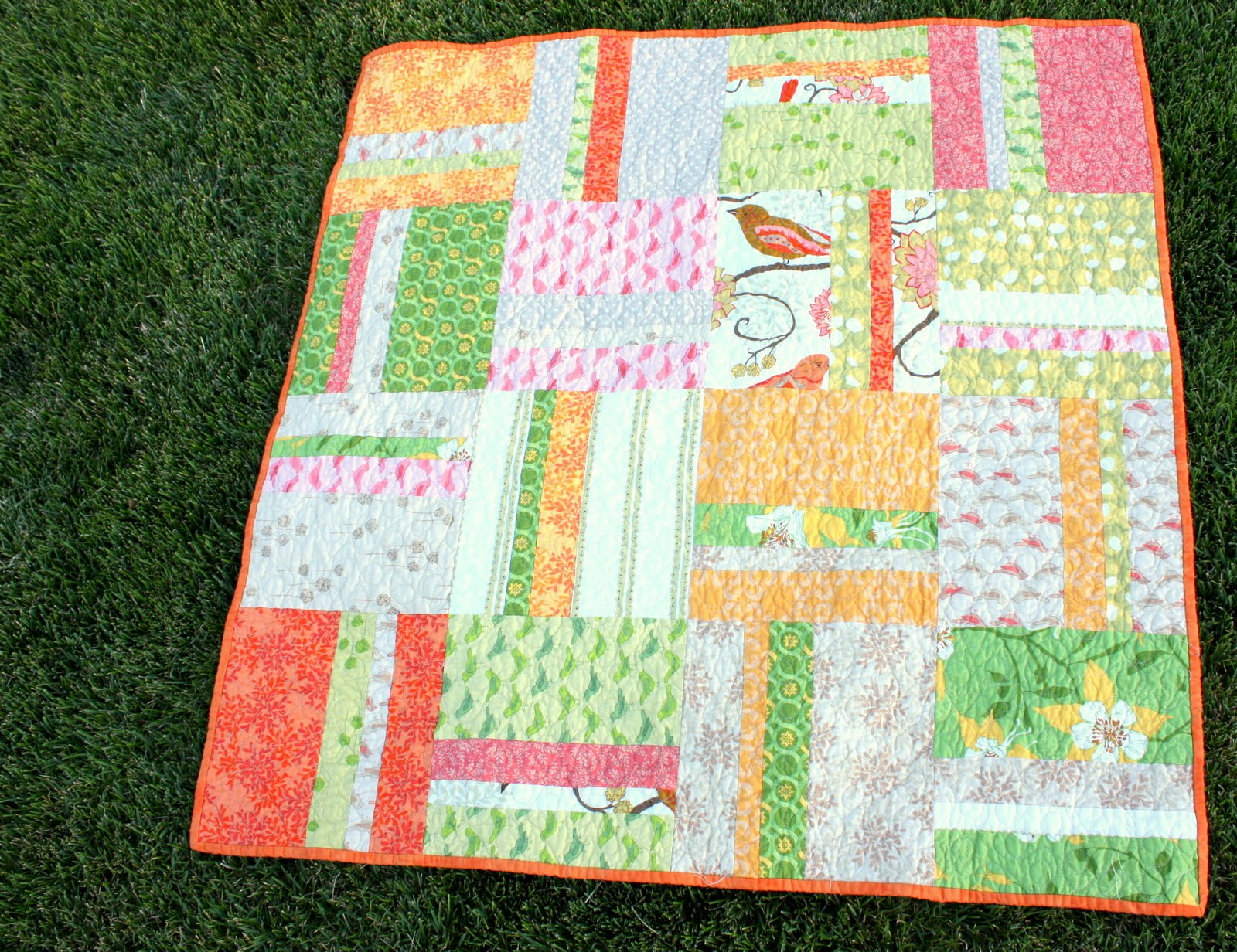 Baby Quilt Blocks.Simple Stripes Quilt Tutorial