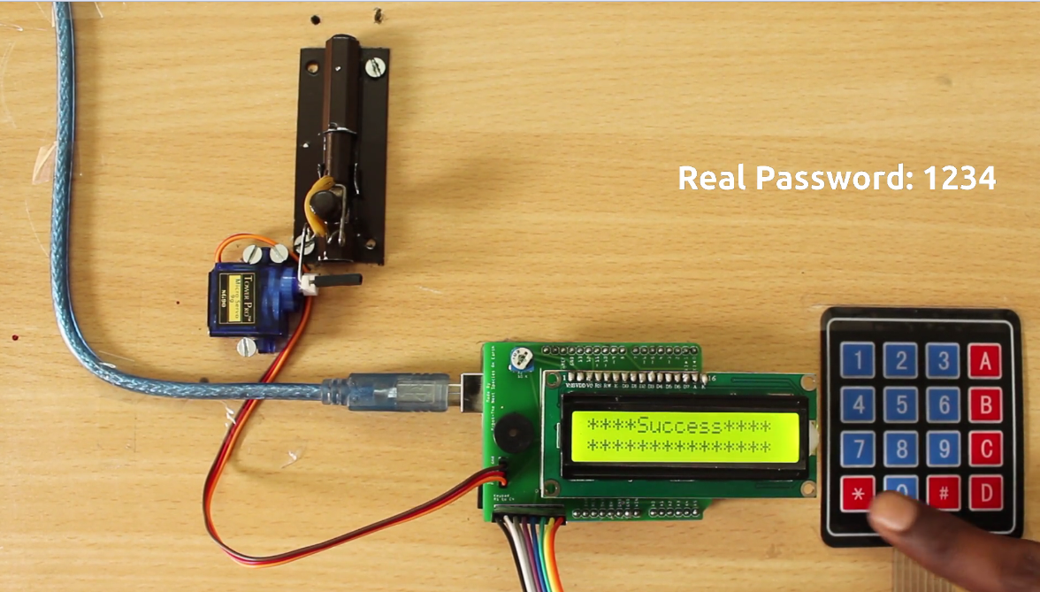 Digital Door Locking System Prototype Using Arduino Jlcpcb Circuit Schematic Electronic Keypad Combination Lock To The Again You Can Press Button Present On