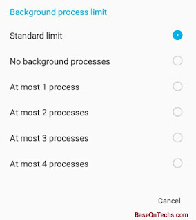 Background Data Limits