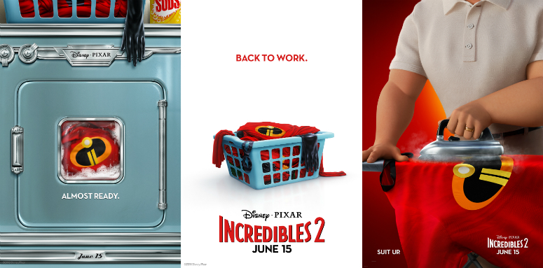 """Incredibles 2"" posters"