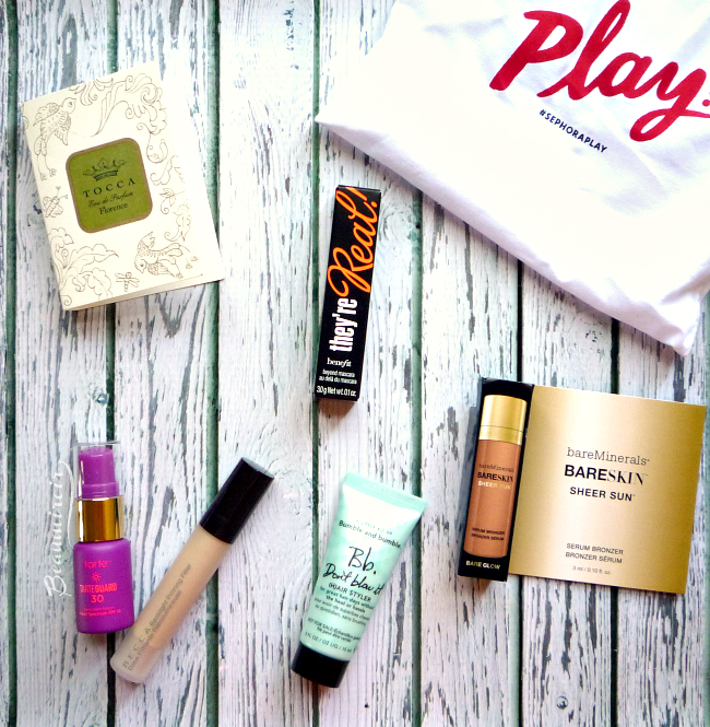 Makeup, skincare, haircare, fragrance in Sephora Play! June 2016 beauty subscription box