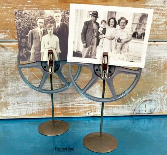 Vintage Film Reel Photo Stand