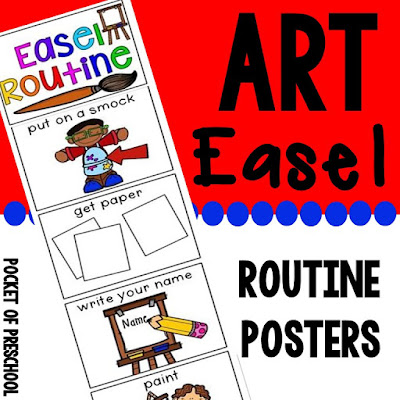 Download easel routine posters that you can print and hang around the art studio to ensure students know what to do when it's time to use art easels in class.