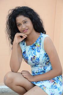 Actress Priyankha Stills in Floral Short Dress at Golmal Gullu Movie Pressmeet 0264.JPG