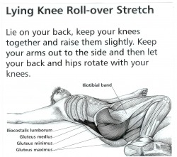 back pain relief remedies with lying knee roll over