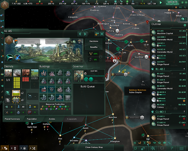 Planets and Buildings | Stellaris: MegaCorp screenshot