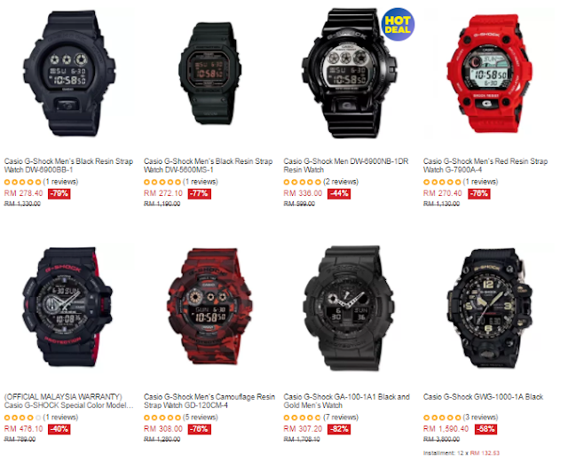 Lazada Malaysia Casio G-Shock Watch