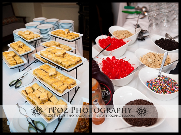 Tabrizis wedding baklava bar instead of cake