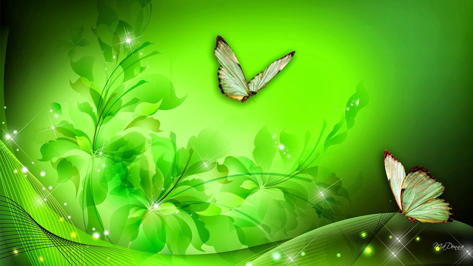 Imagenes ZT - Descarga fondos HD: Fondo de Pantalla Dia de san patricio mariposas verdes