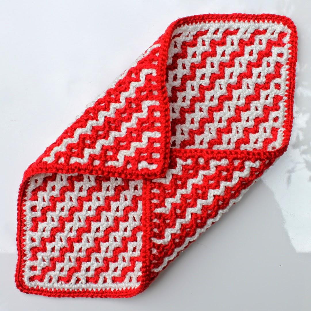Hilde Haakt Vaatdoekjes Dubbelhaken Interlocking Crochet