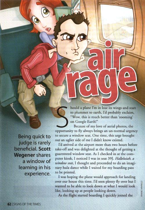 Laugh Cry Think Scott Wegener S Creative Works Air Rage