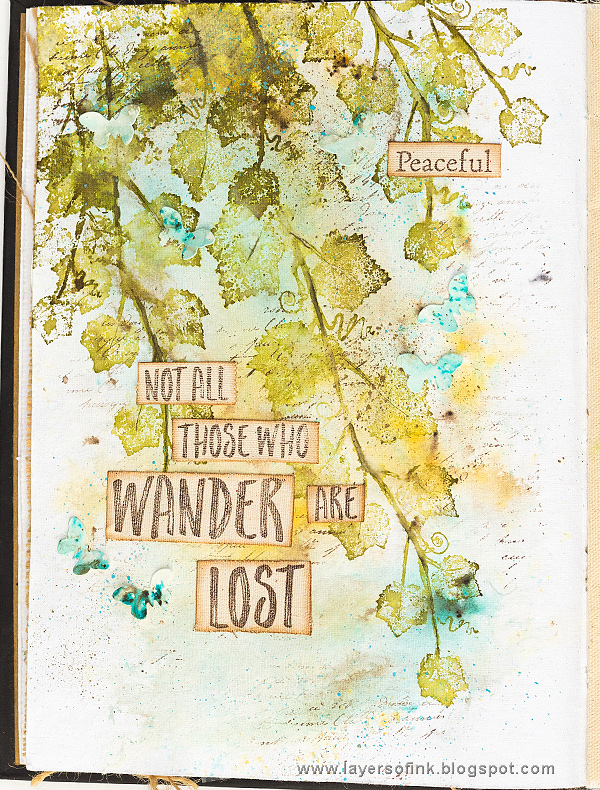 Ivy Art Journal Page Tutorial