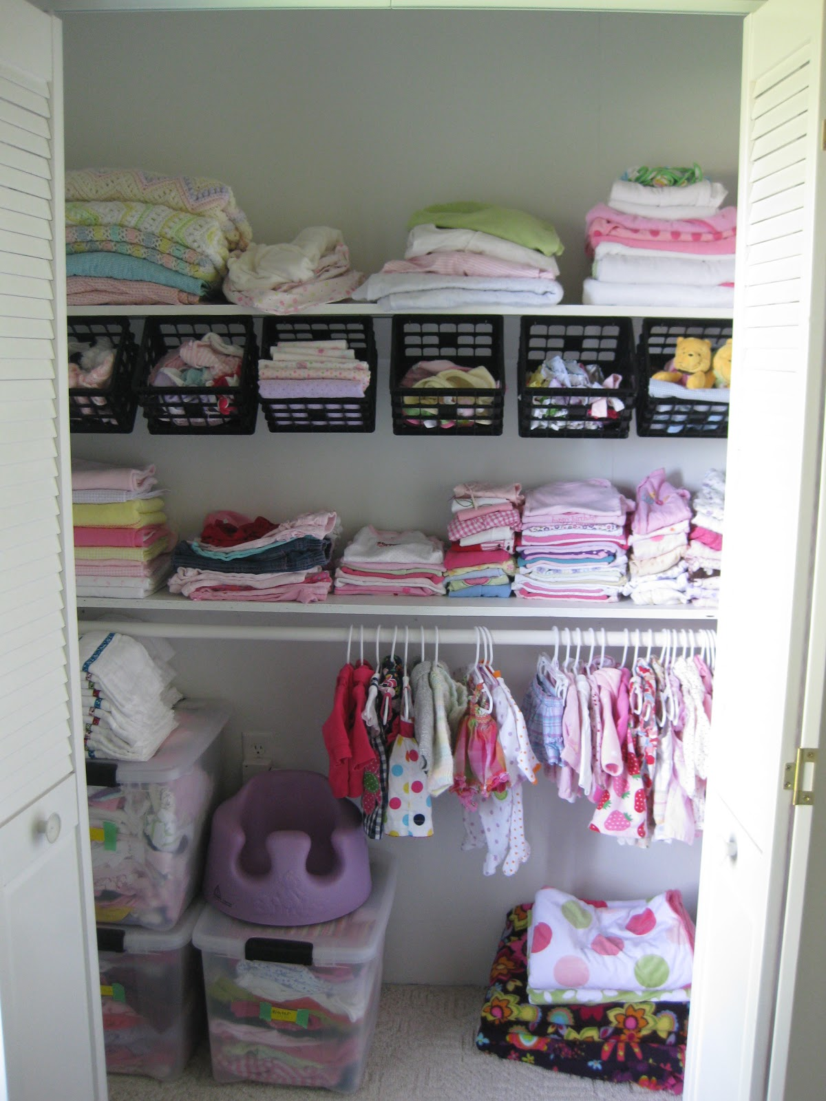 Nursery closet organizational ideas reality daydream - Storage for small bedroom without closet ...
