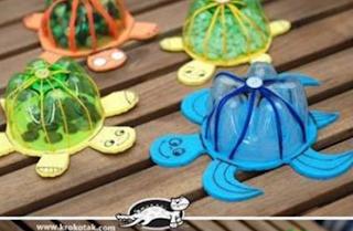 Pet Şişeden Kaplumbağa Yapımı