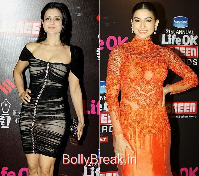 Ameesha Patel, Gauahar Khan, Life Ok Screen awards 2015 Red Carpet Hot Pics