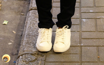 Wearing White Sneaker Shoes with Black Pants- OOTD-NBAM
