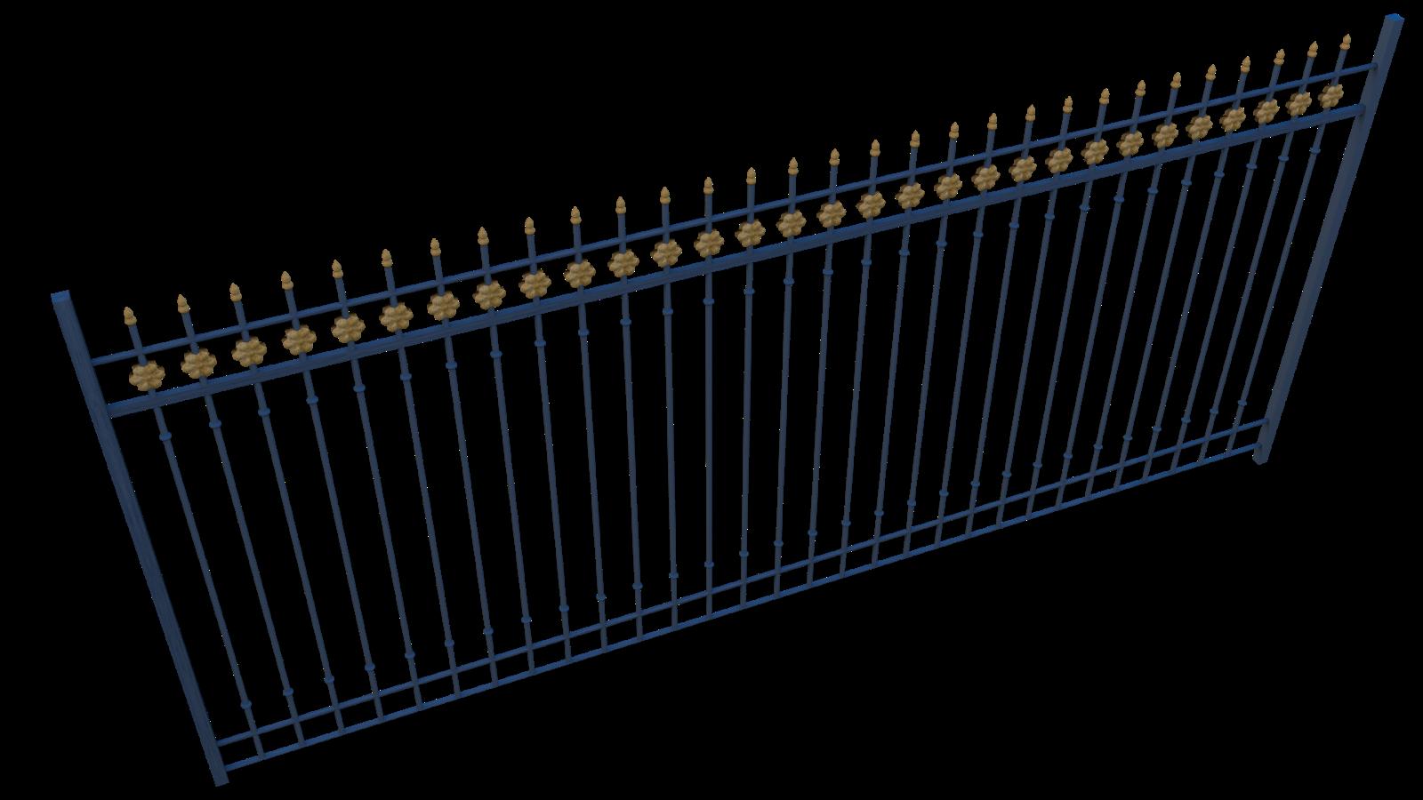Free 3D Iron Fence CC0 3DS - Free 3D Models Under Public Domain