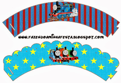 Thomas the Train Printable Wrappers Cupcake.