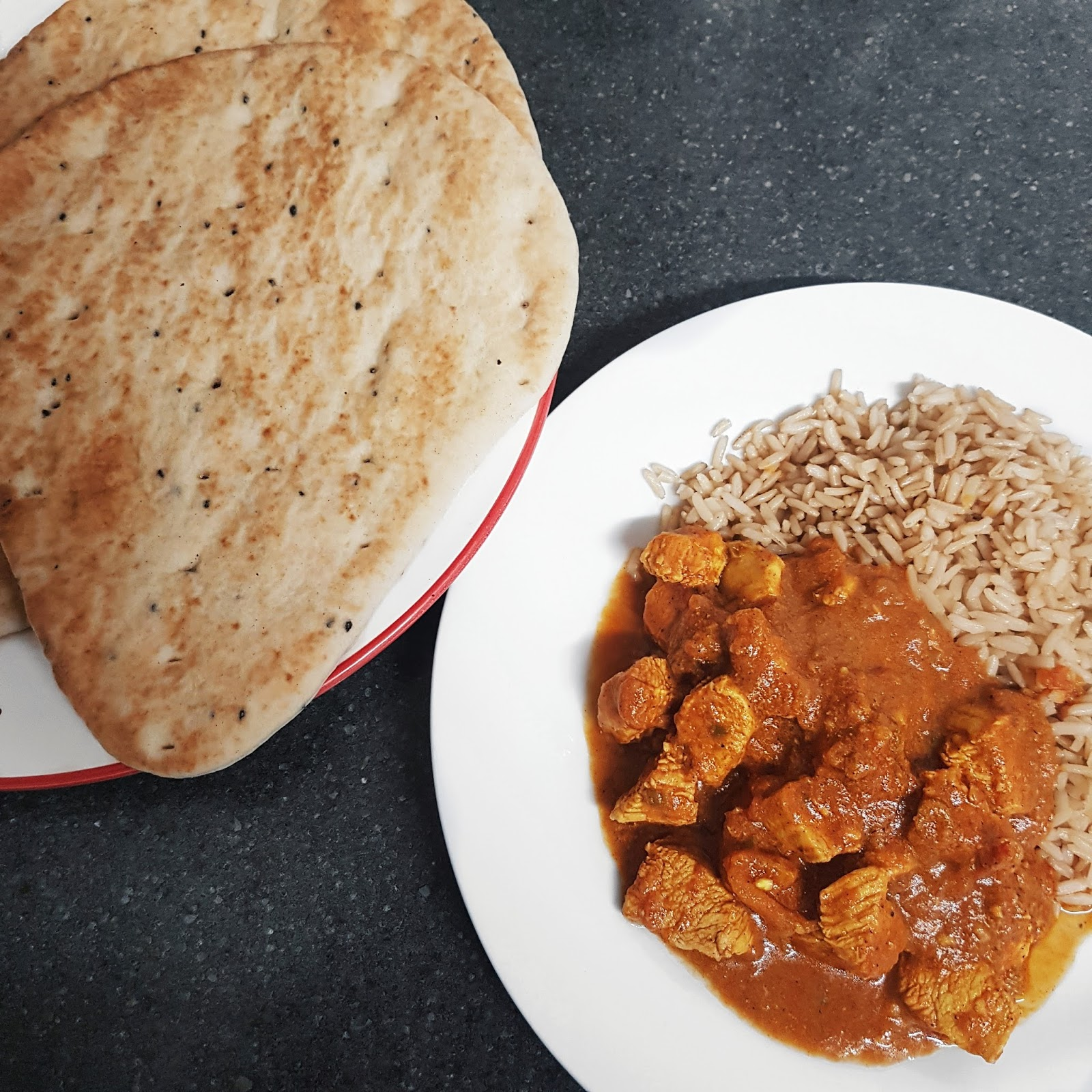 Curry and Naan Bread