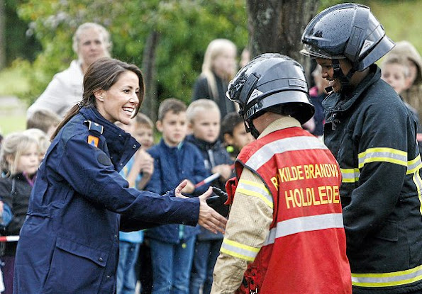 Princess Marie attended a fire prevention event (Brandøvelser) Management Agency (DEMA)