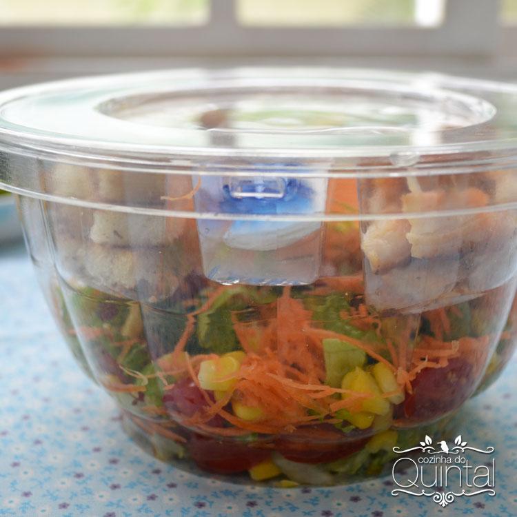 Saladeira linda, prática e com toda a qualidade da Galvanotek, para você faturar com Salada no Pote!