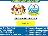 Jawatan Kosong 2018 Lembaga Air Kuching - Kelayakan PMR/SPM/Ijazah