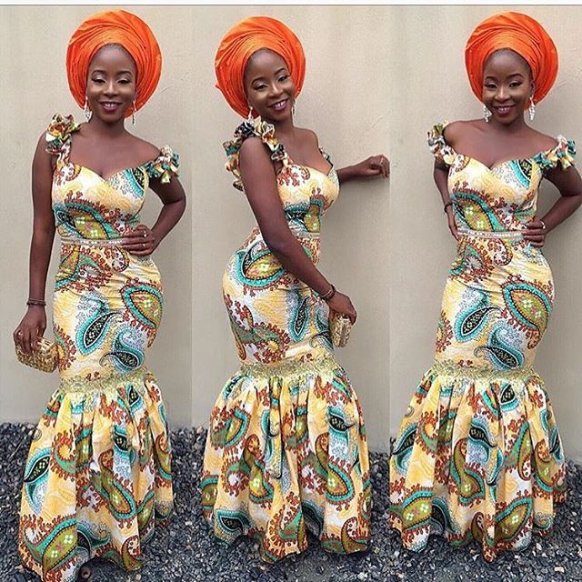 Check Out Creative Off Shoulder Ankara Gown Styles for Ladies ...