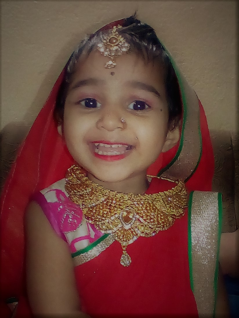 navratri special photo of beautiful baby girl - linuxtopic