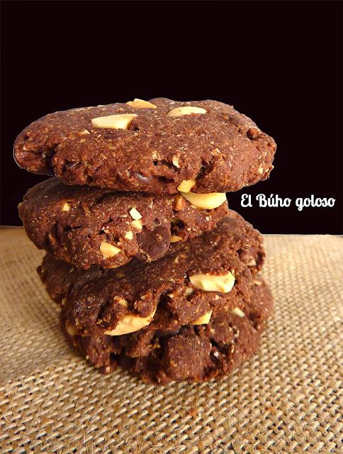 El buho goloso cookies integrales de avena con chocolate for Inmobiliaria el buho