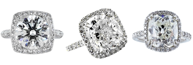 most beautiful square diamond engagement rings