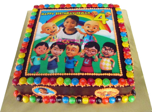 Birthday Cake Edible Image Upin Ipin