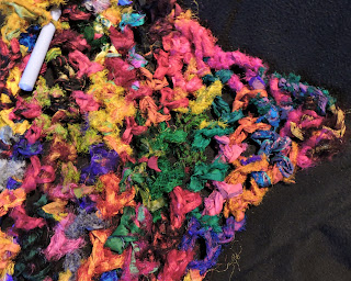 Tibet Jewels shawl in progress